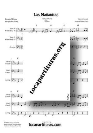 Las Mañanitas Partitura Completa Dúo de Tuba / Contrabajo