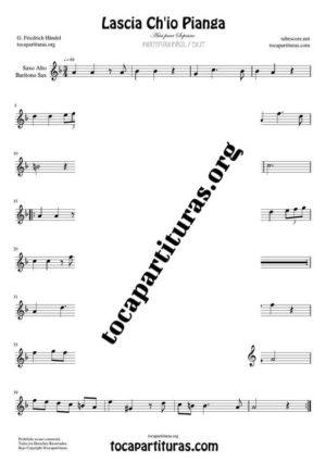 Lascia Ch'io Pianga de Handel Partitura de Saxofón Alto / Saxo Barítono