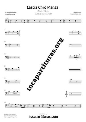 Lascia Ch'io Pianga de Handel Partitura de Trombón / Bombardino