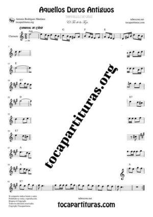 Los Duros Antiguos Partitura de Clarinete