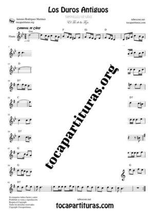 Los Duros Antiguos Partitura de Flauta Travesera