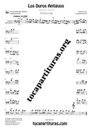 Los Duros Antiguos Partitura de Trombón / Bombardino