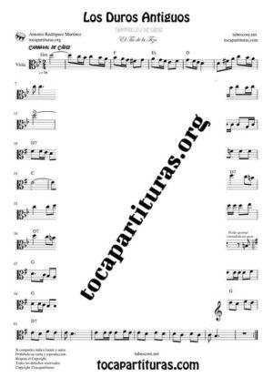 Los Duros Antiguos Partitura de Viola