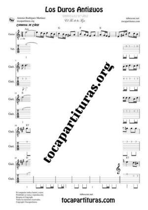 Los Duros Antiguos Partitura y Tablatura de Guitarra en La Menor (Tab)