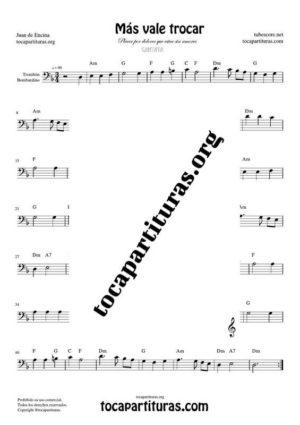 Más vale trocar Partitura de Trombón / Bombardino (Trombone / Euphonium)