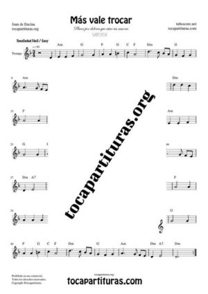 Más vale trocar Partitura de Trompa (French Horn)