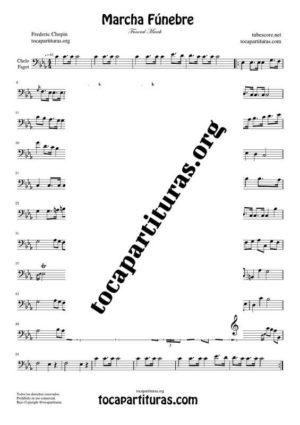Sinfonía n.º 40 (Mozart) Partitura de Chelo / Fagot (Cello/Bassoon)