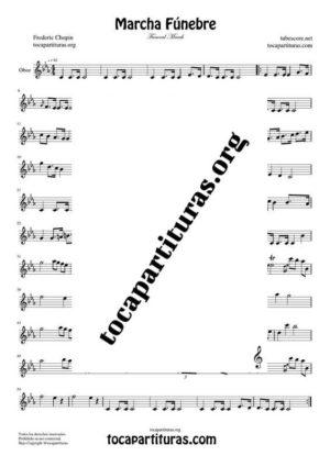 Marcha Fúnebre de Chopin Partitura de Oboe