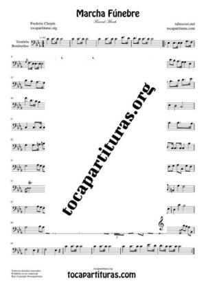 Marcha Fúnebre de Chopin Partitura de Trombón / Bombardino (Trombone / Euphonium)