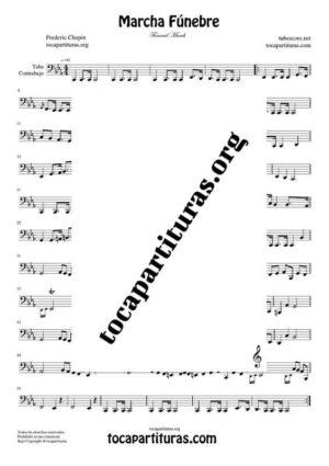 Marcha Fúnebre de Chopin Partitura de Tuba / Contrabajo (Contrabass)