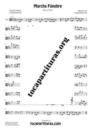 Marcha Fúnebre de Chopin Partitura de Viola