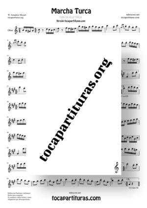 Marcha Turca Partituras Partitura de Oboe