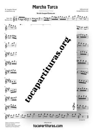 Marcha Turca Partitura de Saxofón Alto / Saxo Barítono