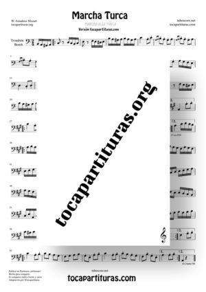 Marcha Turca Partitura de Trombón / Bombardino