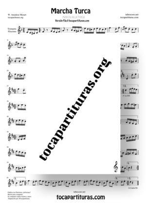 Marcha Turca Partituras de Trompeta y Fliscorno