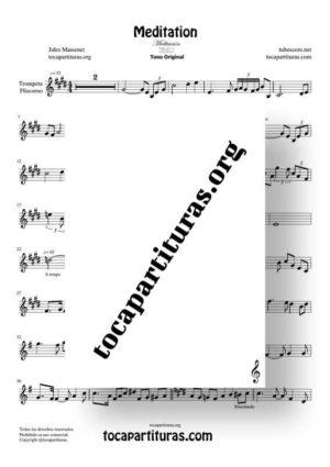 Meditation de Thais Partitura de Trompeta / Fliscorno (Trumpet / Flugelhorn)