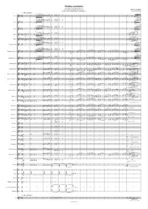 Medley Navideño Partitura de Banda de Música Villancicos (Guion y Partes)