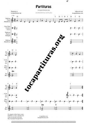 La Mañana Partitura de Xilófono, Pandero, Triángulo, Pandero, Metalófonos y Pequeña Percusión
