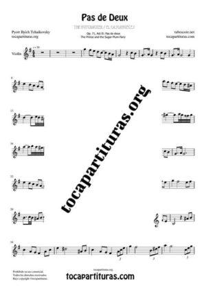 Pas de Deux de Chaikovski Partitura PDF y MIDI Partitura de Violín en Sol Mayor Mayor (G) Tonalidad Original