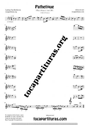 Pathetique de Beethoven Partitura de Clarinete