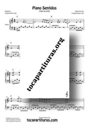 Piano Sentidos Partitura de Piano