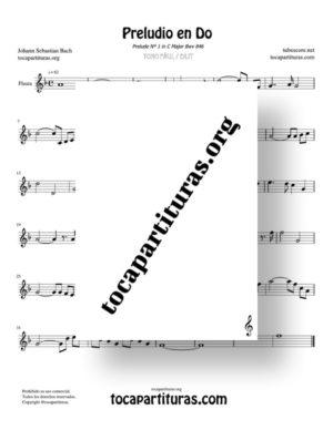 Preludio en Do Bwv 846 de Bach Partitura de Flauta Dulce y/o de Pico