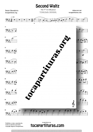 Waltz Nº 2 de Shostakovich Partitura de Trombón / Bombardino (Trombone / Euphonium)