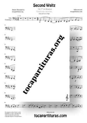 Waltz Nº 2 de Shostakovich Partitura de Tuba / Contrabajo (Contrabass)