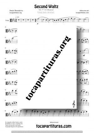 Waltz Nº 2 de Shostakovich Partitura de Viola