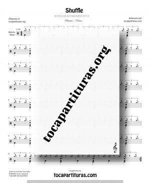 Shuffle Partitura Fácil de Batería (Drum Styles)
