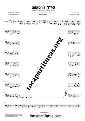 Sinfonía n.º 40 (Mozart) Partitura de Tuba / Contrabajo (Contrabass)