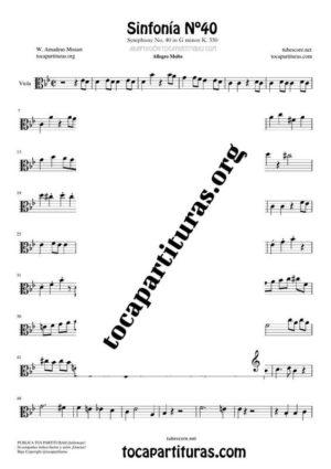Sinfonía n.º 40 (Mozart) Partitura de Viola