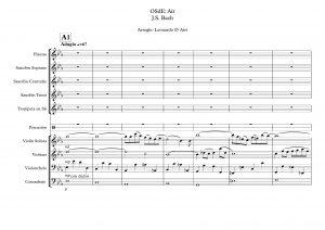 Suite Nº 3 de Bach Partituras para Orquesta Sinfónica (OSdE: Air)