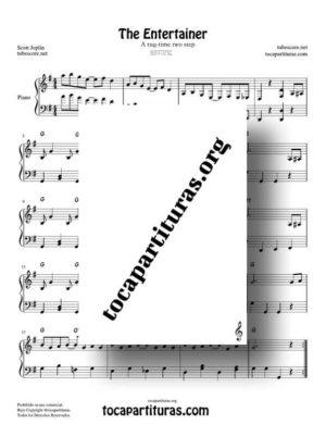 The Entertainer a Rag-time two step Partitura de Piano Fácil