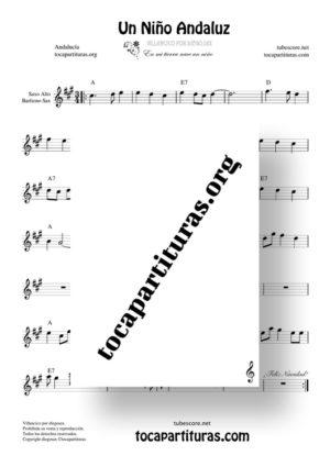Un niño andaluz de diegosax Partitura de Saxofón Alto / Saxo Barítono (Villancico)