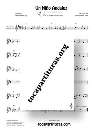 Un niño andaluz de diegosax Partitura de Saxo Tenor / Soprano Sax (Villancico)