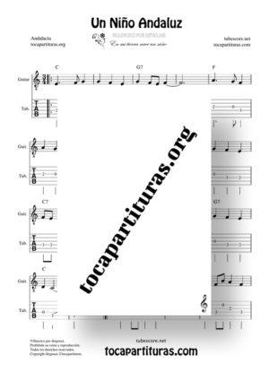 Un niño andaluz de diegosax Partitura Tablatura de Guitarra (Villancico)