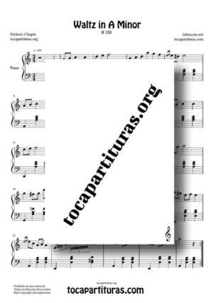 Vals en La Menor Partitura PDF y MIDI para Piano